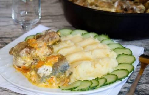 Салат с белыми грибами и курицей рецепт с фото очень вкусный